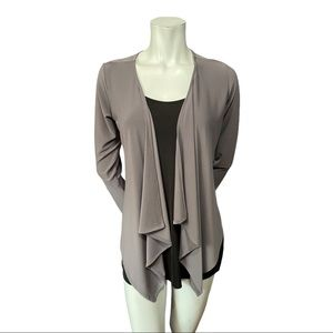 Sympli Stretchy Grey Open Jacket Size 8
